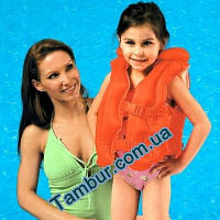 Детский надувной жилет для плаванья INTEX (50 см х 48 см)