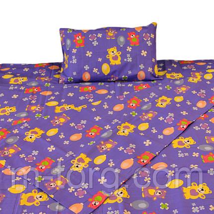 Комплект детского постельного белья 110/150, нав-ки 40/60, ткань поплин, 100% состоит из хлопка , фото 2