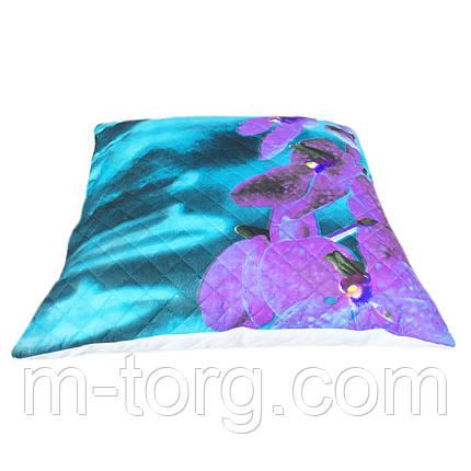 Подушка 60/60 см, холлофайбер, фото 2