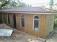 Минераловатное утепление стен домов с декоративной отделкой под короед