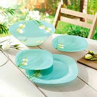 Посуда для сервировки стола на 6 персон Sofiane Blue 19 приборов