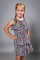 Детский летний костюм для девочки (юбка и кофточка)