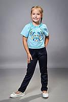 Детская блузка с вышивкой для девочки
