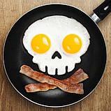 Форма для смаження яєць Череп Оранжовий / Форма для смаження яєць Череп, фото 2