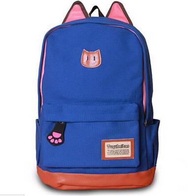 Рюкзак женский Котик (ярко синий)