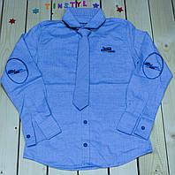 Стильная рубашка  для мальчика на рост 134-170 см