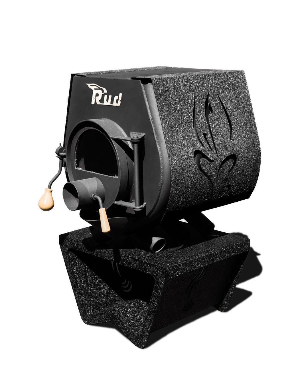 Отопительная конвекционная печь Rud Pyrotron Кантри 00 с варочной поверхностью Обшивка декоративная
