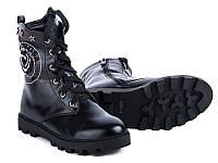 Модная подростковая обувь. Ботинки для девочек на тракторной подошве от GFB M50-1 (8пар 32-37)