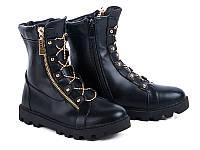Модная обувь. Ботинки для девочек на тракторной подошве от GFB M52-1 (6пар 32-37)