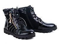 Модная обувь. Ботинки для девочек на тракторной подошве от GFB M53-1 (6пар 32-37)