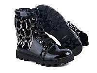 Модная подростковая обувь. Ботинки для девочек на тракторной подошве от GFB M58-1 (6пар 32-37)
