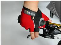 Велоперчатки беспалые Tiercel - красные (XL)