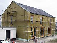 Наружное утепление стен фасадов домов минеральной ватой 100 мм с материалом