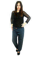 Классические брюки  Oscar Fur ЖБ-9 темно-синий, фото 1