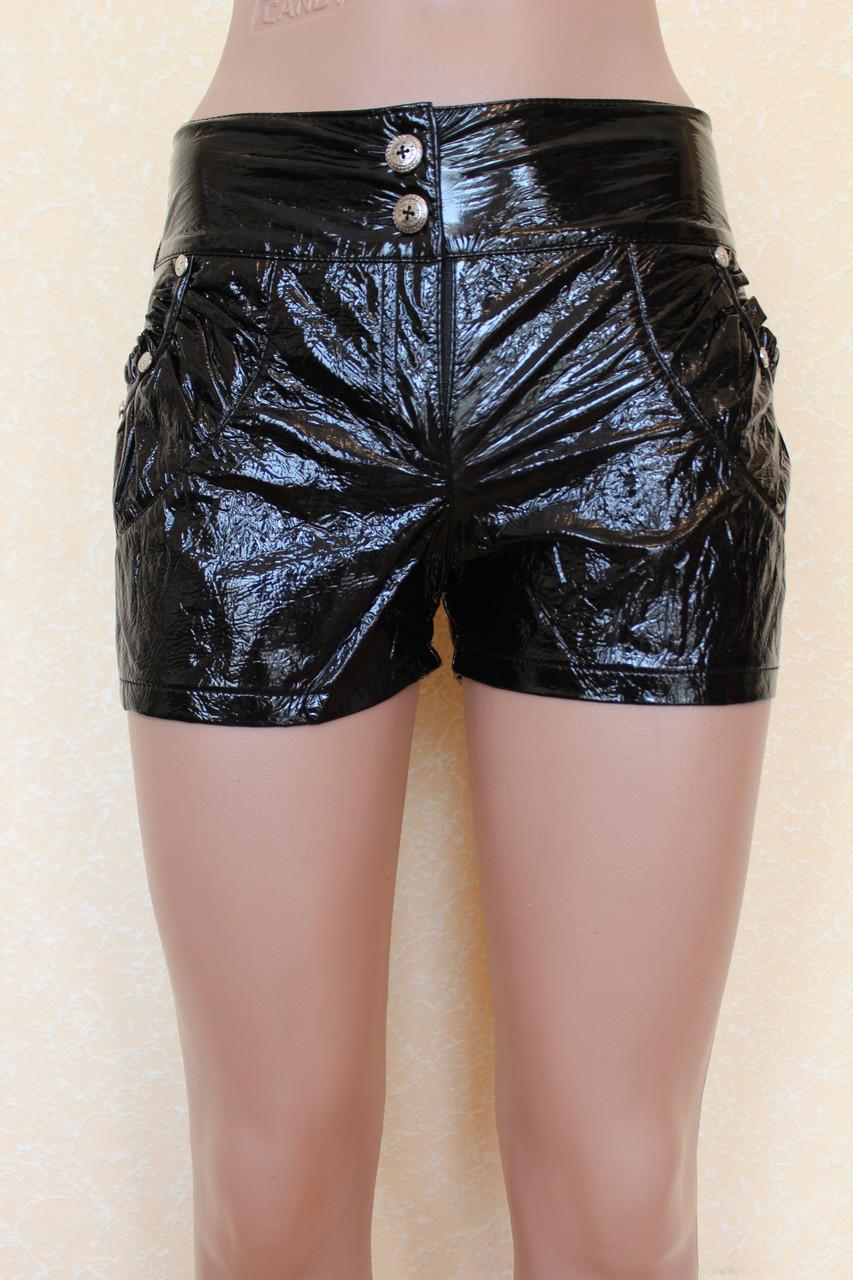 Лаковые женские шорты 42-48 р ( разные цвета )