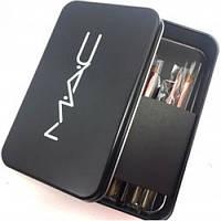 Набор кистей MAC в металлическом футляре 12шт