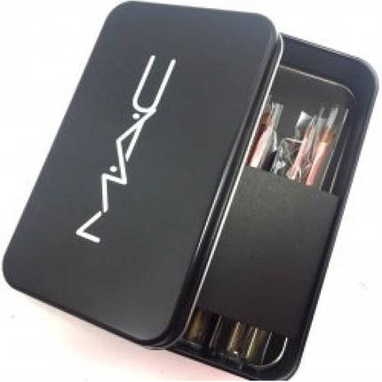 Набор кистей MAC в металлическом футляре 12шт реплика, фото 2