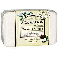 A La Maison de Provence, органічне натуральне мило Hand & Body Bar Soap, Coconut Cream 250,00g