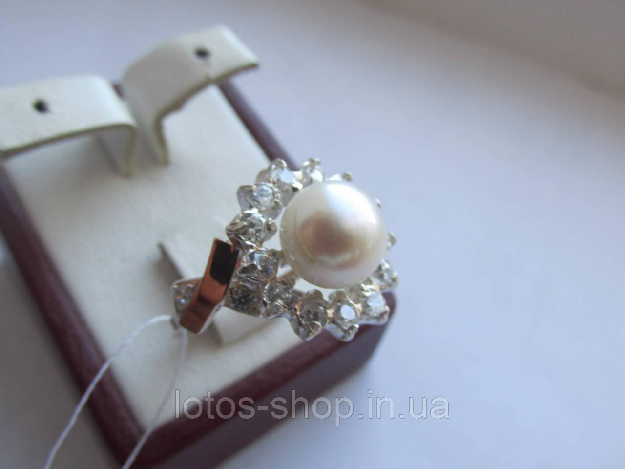 """Серебряное кольцо с золотыми накладками""""Хризантема Ж"""""""