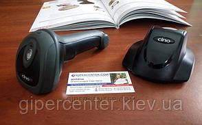 Беспроводной дальнобойный сканер штрих-кодов Cino F790 BT USB черный, фото 2