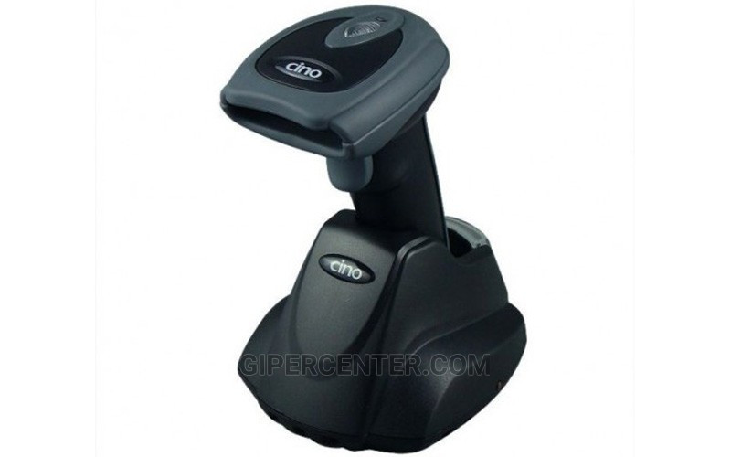 Беспроводной дальнобойный сканер штрих-кодов Cino F790 BT USB черный