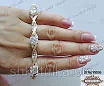 Браслет зі срібла і золота з камінням