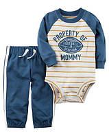 Штаны + Кофта боди Carters на новорожденного до 55 см. Набор из 2-х частей для мальчика