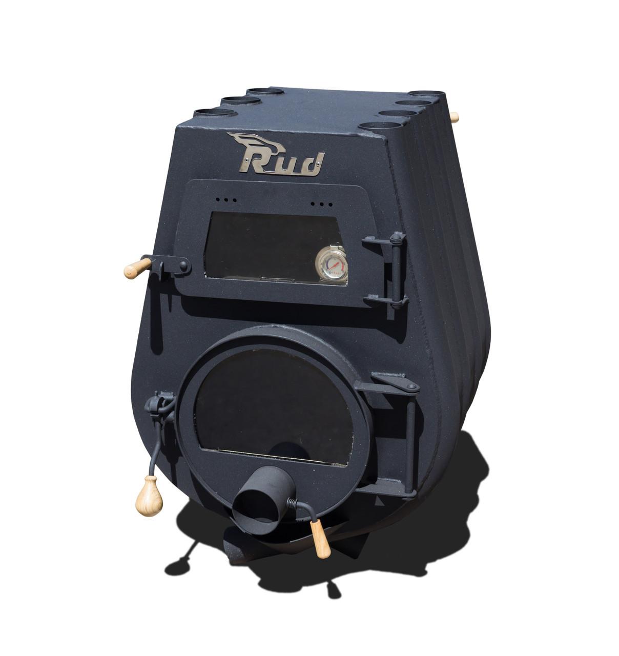 Отопительная печь Rud Pyrotron Кантри 01 с духовкой и варочной поверхностью Обшивка декоративная (черная)