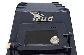 Отопительная печь Rud Pyrotron Кантри 01 с духовкой и варочной поверхностью Обшивка декоративная (черная), фото 3