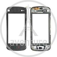 Сенсор Nokia N97 mini чёрный в рамке оригинал