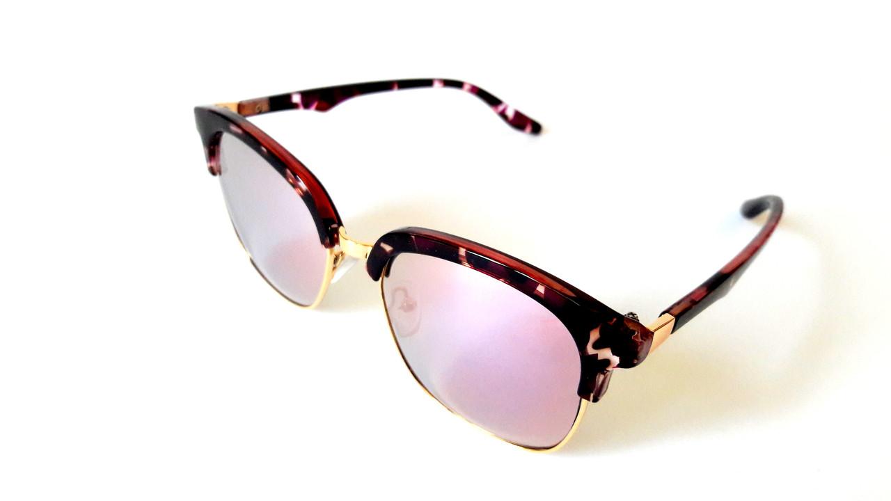 Солнцезащитные очки Omega отличного качества, тигрово-золотые с фиолетовым