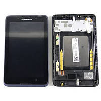 LCD (Дисплей) Lenovo A3500 IdeaTab + touchscreen чёрный с frame