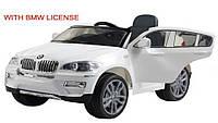 Эл-мобиль T-791 BMW X6 WHITE джип на р.у. 2*6V7AH мотор 2*35W с MP3 117*73.5*59 ш.к.