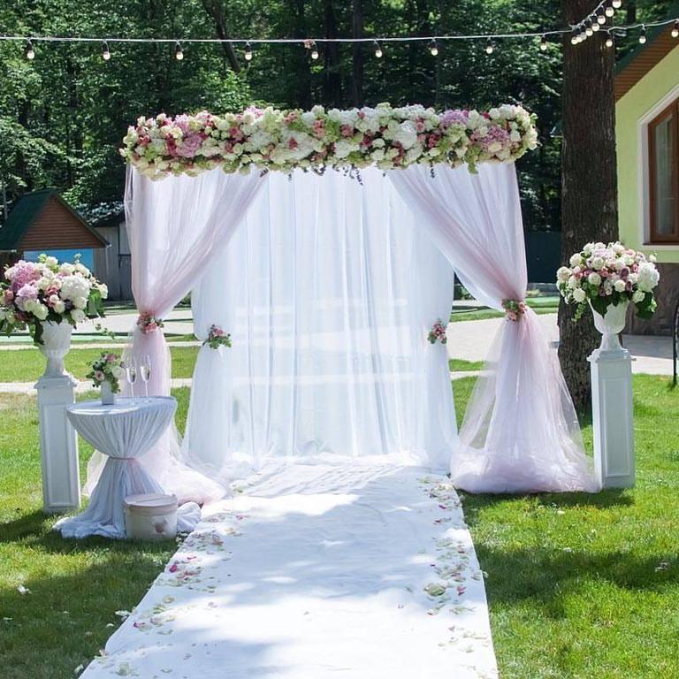 Оформления места проведения свадьбы. Декорирование выездной церемонии. 49