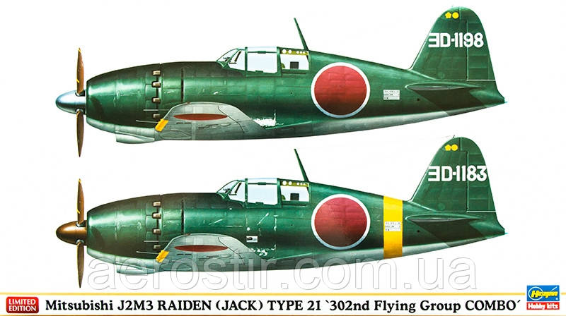 Mitsubishi J2M3 RAIDEN [JACK] Type 21 '302nd Flying Group COMBO' 1/72 HASEGAWA 01931