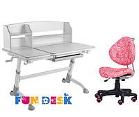 Подростковая парта для школы FunDesk Amare II Grey + Детский стул SST5