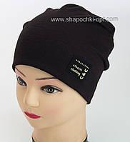 Черная шапка для мальчика