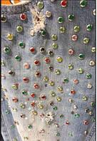 Джинсы женские Whitney в камешках-стразах Голубые
