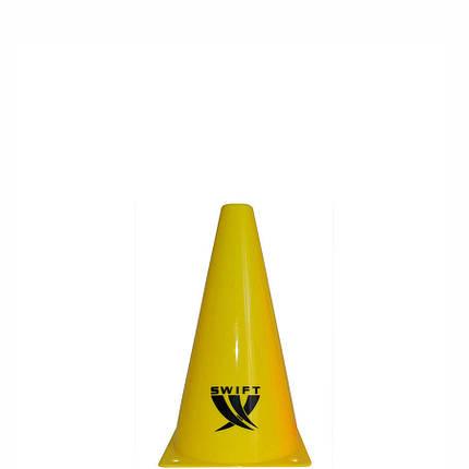 Конус тренировочный SWIFT Traing cone, 18 см (желтый), фото 2
