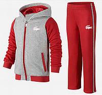Спортивный костюм Лакоста красный