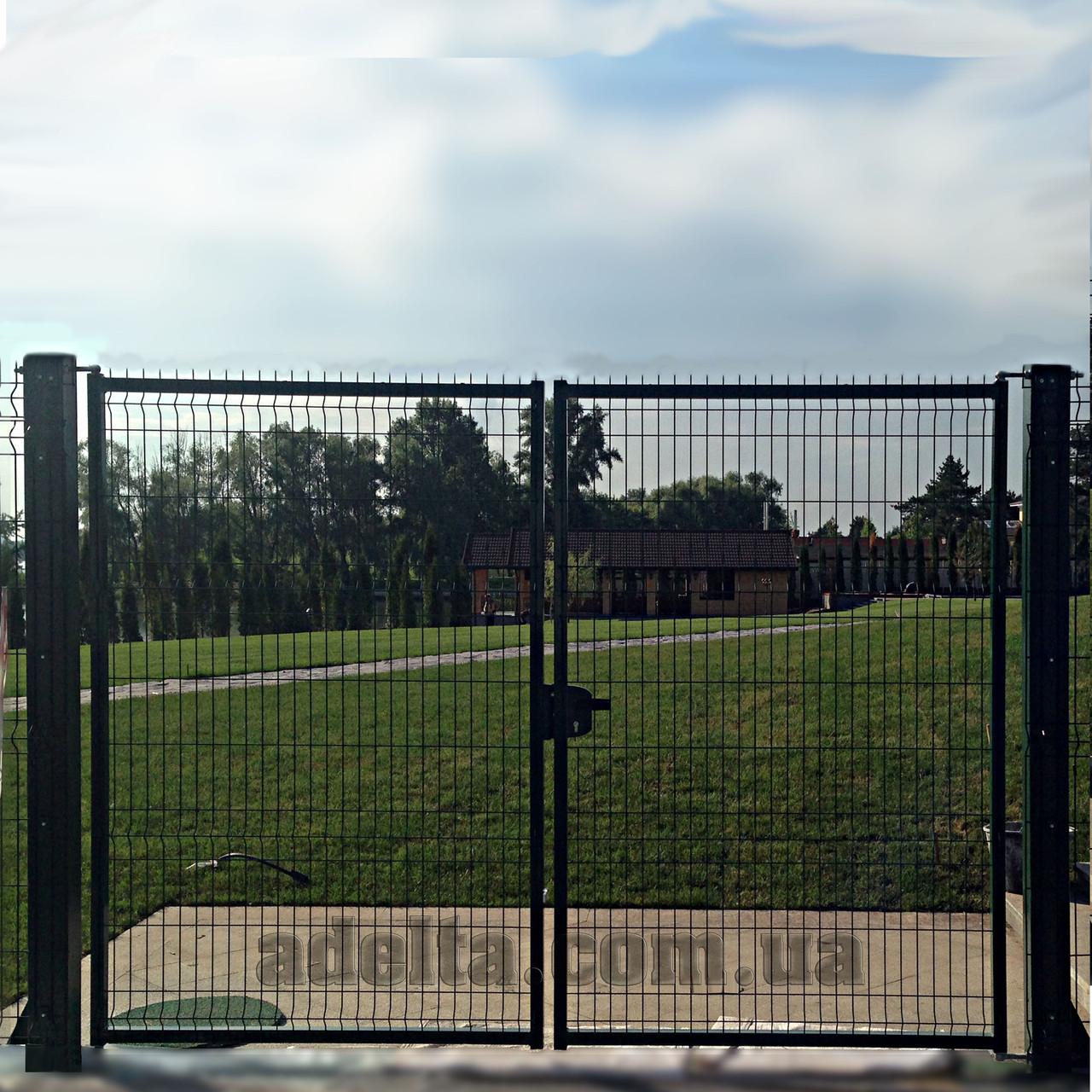 Распашные ворота 3D, Шир.3000хВыс.1680мм
