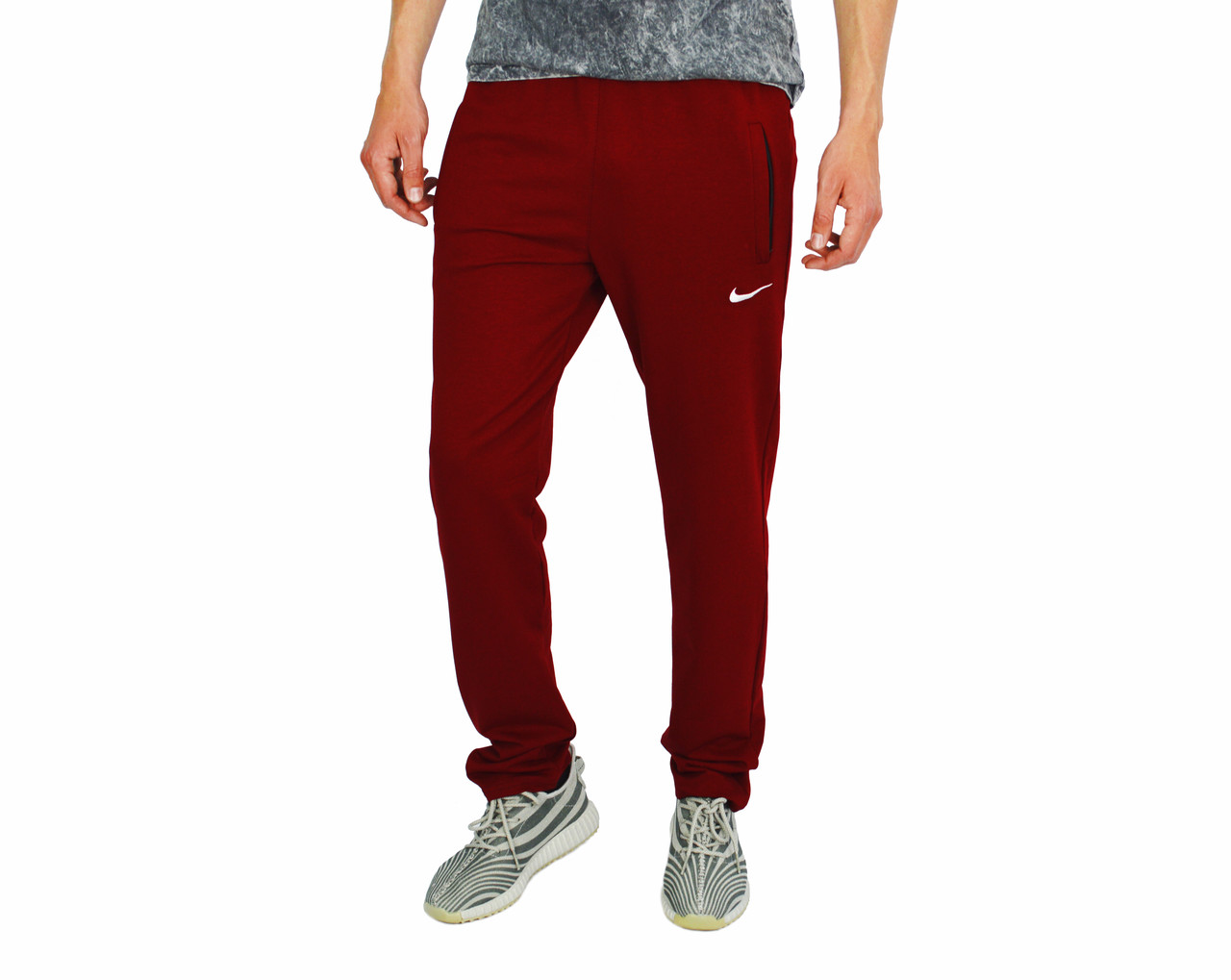 Красные мужские спортивные трикотажные штаны с манжетами NIKE ... 1b87f31aa60