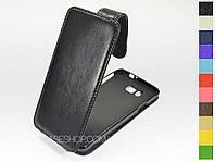 Откидной чехол из натуральной кожи для Samsung Galaxy Alpha G850F