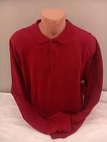 Мужская футболка поло с длинным рукавом красного цвета