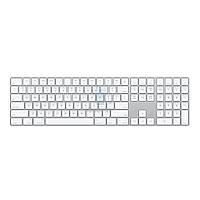 Расширенная беспроводная клавиатура Apple Magic Keyboard with Numeric Keypad (Раскладка - US, гравировка - RU / UA) (MQ052)