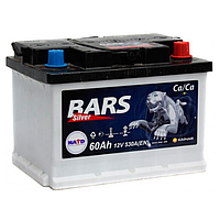 Автомобильный аккумулятор BARS Silver 60Ач 530А (0) R (h=175)