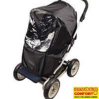 Универсальный дождевик-ветрозащита на прогулочную коляску Kinder Comfort, чёрный