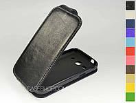 Откидной чехол из натуральной кожи для Samsung G3502 Galaxy Trend 3