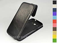 Откидной чехол из натуральной кожи для Samsung G7102 Galaxy Grand 2
