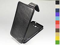 Откидной чехол из натуральной кожи для Samsung G7200 Galaxy Grand 3